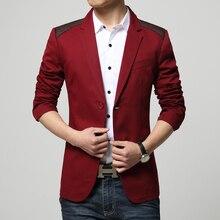 Модные Осенняя новинка 2016 г.; Slim Fit дизайн мужской костюм красный Черный цвет и цвет хаки 3 вида цветов оптовая продажа с фабрики Для мужчин Пиджаки для женщин