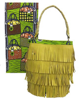 African Super Wax Bag and Fabric African Handbag with Wax Fabric Lady HandbagWax Fabric Bag for African Nigeria Weding WB-003