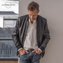 ANDREW MARC MNY 2016 New Design Outwear Genuine Leather Jacket Coats Thin Slim Sheepskin Men's Jacket Motorcycle TM6A1001