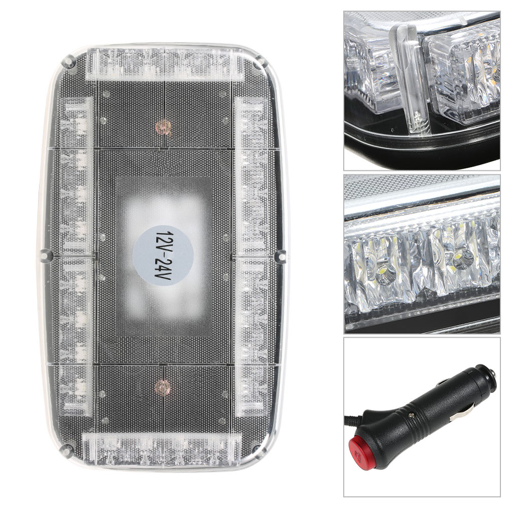 kkmoon 12v Car Roof lamp Strobe Lights Bar Police Emergency Flashing Warning Light for Car Truck