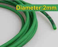 10 Metri/lotto Diametro: 2mm Verde PU Industriale Cinghia Tonda Nastro Trasportatore