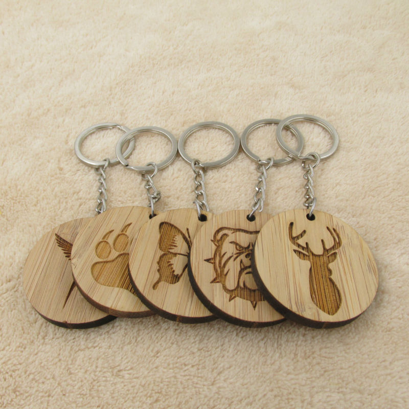 Лидер продаж, модные брелоки с животными, собачья лапа, Бабочка, птица, голова оленя, деревянный брелок, цепочка для ключей