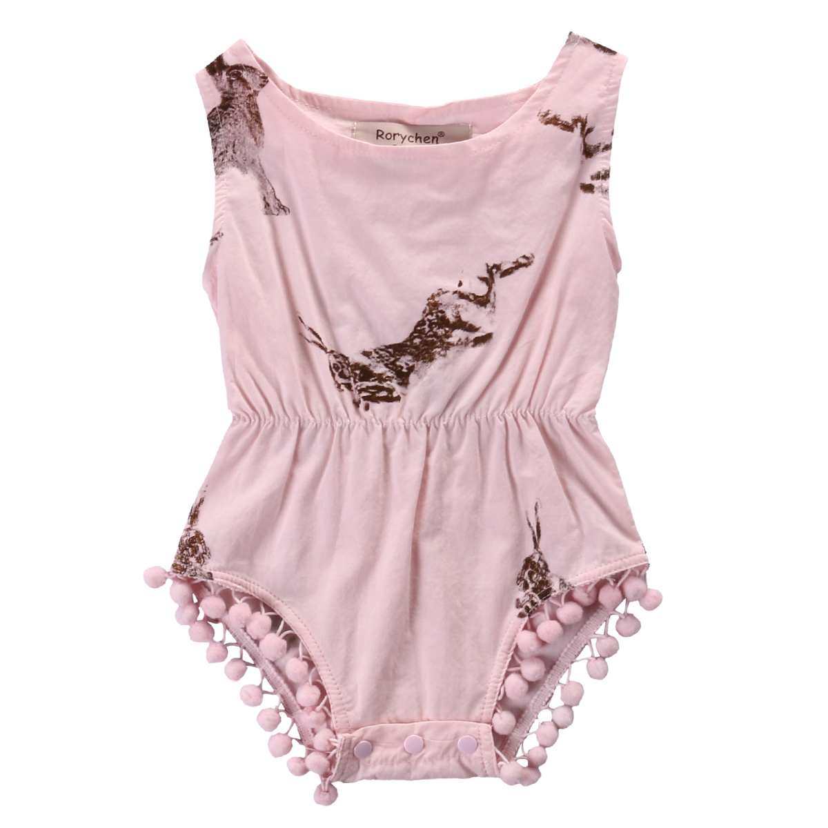 Newborn Infant  Baby Girls Clothes Rabbit Rompers Cotton  Sunsuit Bunny Pattern Baby Clothing pink , blue 0-24M newborn infant baby girl boys cute rabbit bunny rompers jumpsuit long sleeve clothing outfits girls sunsuit clothes
