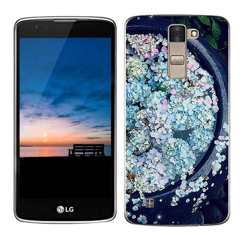 فاخر حقيبة لجهاز LG K8 Lte K350 K350E K350N يغطي الفاصوليا رسمت سيليكون بولي يوريثان لينة غطاء ل LG K8 الهاتف حالات 5.0 كابا