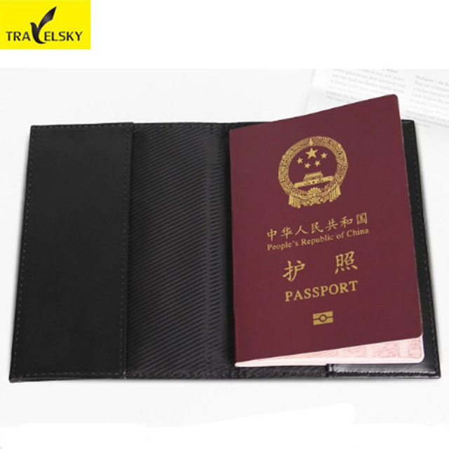 b906e6e12 Wholesale Men Passport Cover Travel RFID Card Passport Protector Woman PU  Leather Tickets Holder Free Shipping 13594B