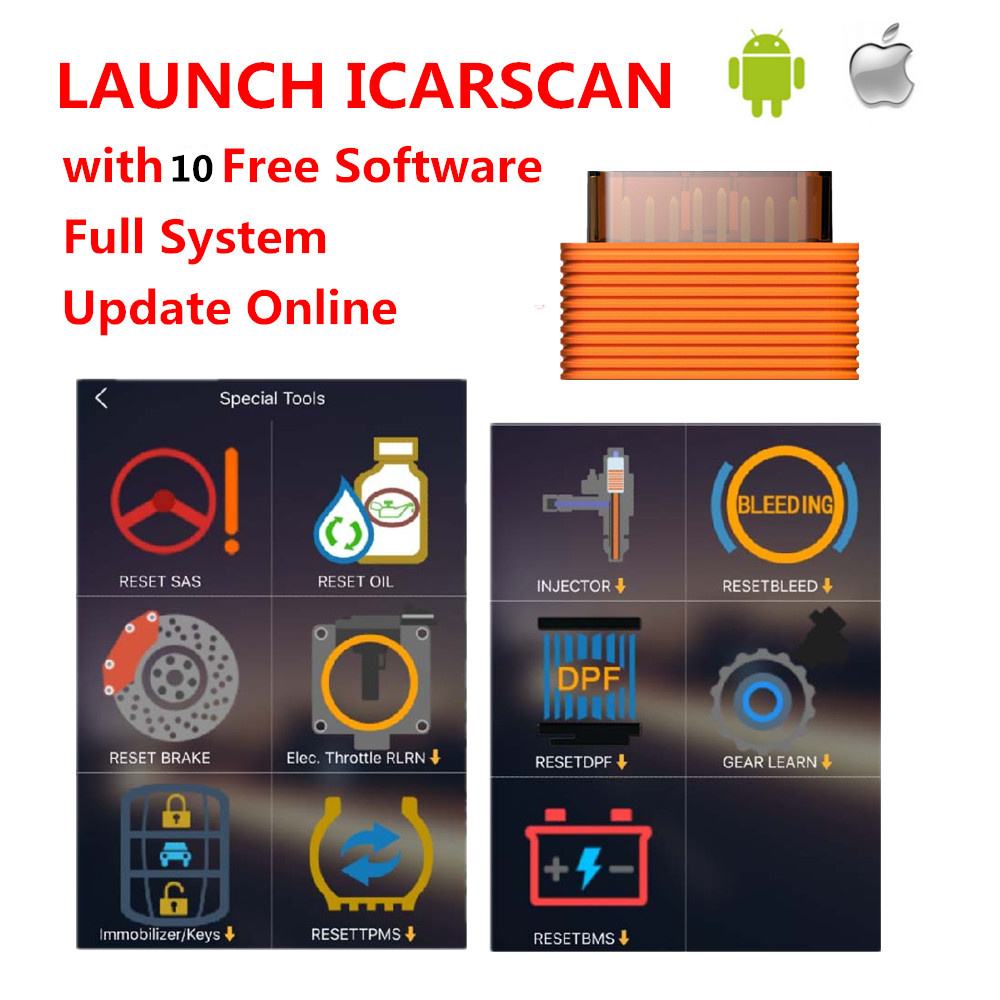 LAUNCH iCarScan Better Than Launch X431 iDiag easydiag mdiag m-diag lite ELM327 Bluetooth icar scan Get Free 10 FREE software