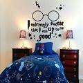 Harry Potter juro solenemente citação arte adesivos de parede decalques início DIY decoração Mural removível quarto decoração adesivos de parede