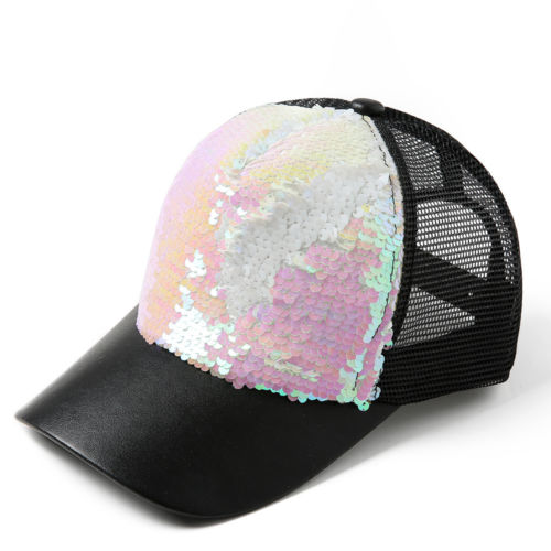 Women Ponytail Baseball Cap Sequins Shiny Mesh Bun Bling Snapback Hat Sun  Caps Adjustable Fashion Summer 2018-in Baseball Caps from Apparel  Accessories on ... e3cfad668a6e