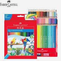 Faber Castell Watercolour pencil Professional colored карандаши для школы художественный Рисунок с точилкой кисть 72 Цвет водорастворимый