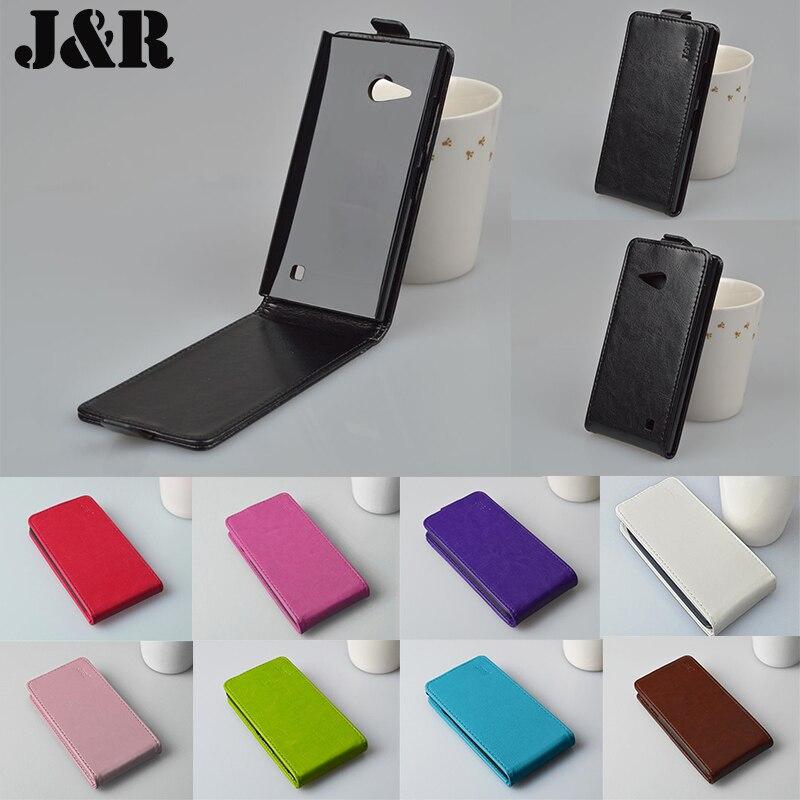 Lujo PU funda de piel cubierta para Nokia Lumia 730/735 Dual SIM del teléfono Or
