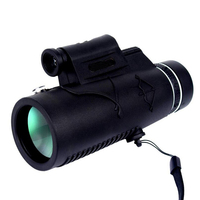 High Quality HD Zoom Lens Monocular Telescope with Lamp and Laser Long Range 12 x 50 Portable Compass For Camping Hiking Fishing