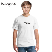 KANYSP Brand Summer Fashion Men tshirts Letter printing hip hop men cotton t-shirts homme  Short Sleeve Male Tops size s-3xl