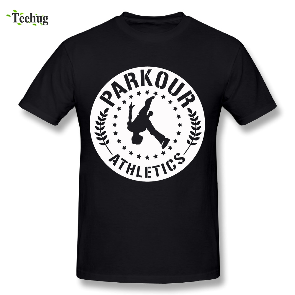 Cool Man 100% Cotton Parkour T Shirt Graphic Print Fashion Summer Streetwear T-shirt Camiseta