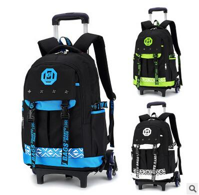 kid School Trolley backpack Children wheeled school backpack for ...