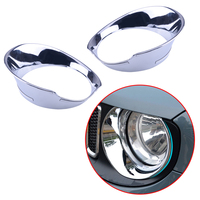 beler Chrome ABS Front Headlight Lamp Bezel Grille Cover Trim Fit for Jeep Renegade 2015 2018