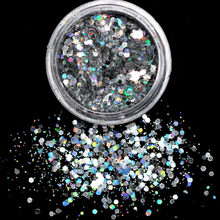 Laser Silver Super Glitter Flatback Multicolor Non HotFix Rhinestones For Nail Art 11.11 hot Shoes And Dancing 11.11 hot(China)