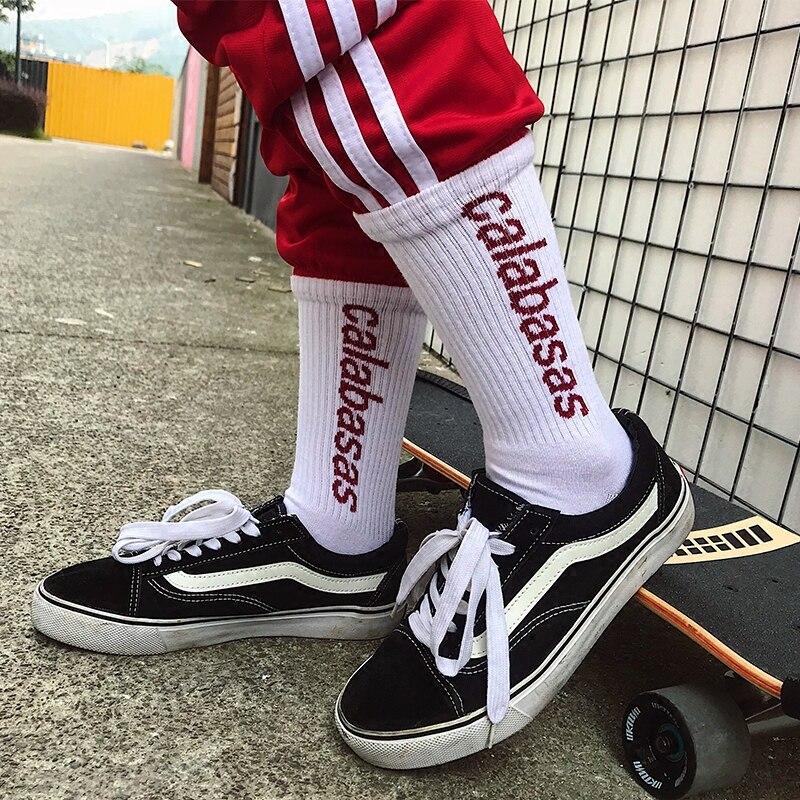 2018 men women   socks   Calabasas   socks   fear of god suprem letter long   socks   hip hop streetwear kanye west ins casual crew   socks