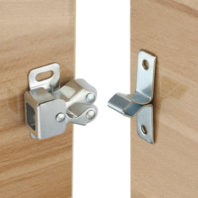 US $8.68 20% OFF|10pcs Push To Open Door lock Touch Latch Kitchen Cupboard  Door Stopper Drawer Soft Quiet Close hardware furniture accessories-in ...