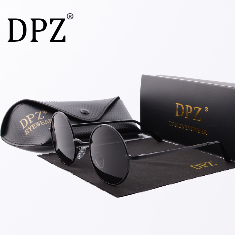 2018 Steampunk Round Sunglasses Men Women Anti-UV Polarized Metal Frame hot rayeds Retro Sun Glasses Mirror gafas de sol