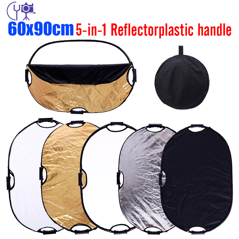 "CY 60x90cm Free Ship Photography Reflector 24x35"" 5in1 Light Mulit Collapsible Portable Photo Reflector Studio Lighting Control"
