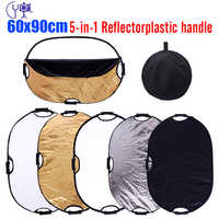 CY 60x90cm Free ship Photography reflector 24x35 5in1 Light Mulit Collapsible Portable Photo Reflector Studio Lighting Control