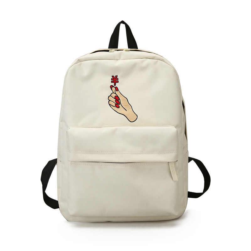 Для мужчин сердце холст рюкзак Для женщин школьная сумка рюкзак розовый вышивка рюкзаки для подростков Для женщин Дорожные сумки Mochilas