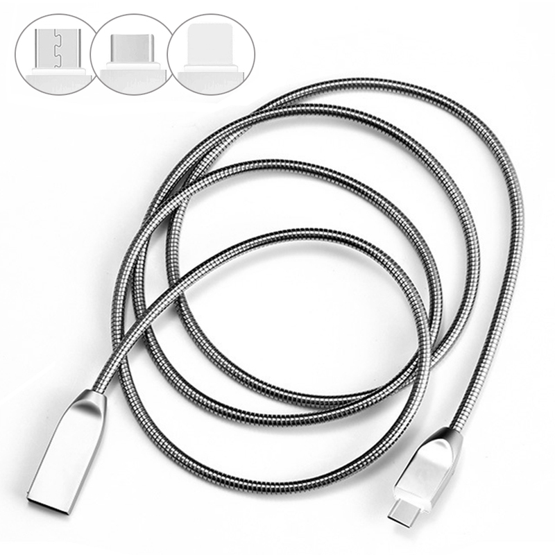 Flexible spring micro USB Cable mobile phone Charger for App