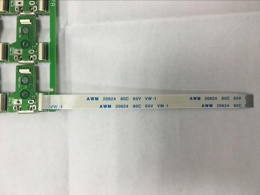 100 sets/partij Voor Playstation4 PS4 DualShock 4 Controller Micro USB Opladen Socket Board REV + kabel 12pin JDS 030 f001 V1 JDS030-in Vervangende onderdelen en toebehoren van Consumentenelektronica op  Groep 1