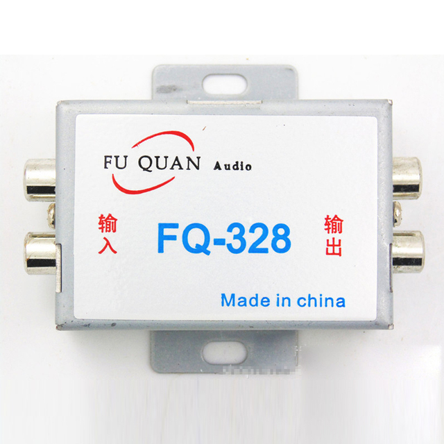 Special Offers High Quality Noise Filter Car Audio Amplifier Amp Aluminum Shell For DVD Stereos DC 12V Vehicle LOOP ISOLATOR RCA Plug