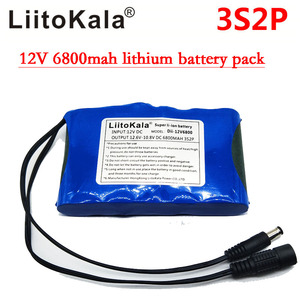 Image 2 - Liitokala Portable Super Rechargeable Lithium Ion battery pack capacity DC 12V 6800Mah CCTV Cam Monitor