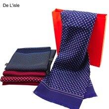 Натуральный шелк двойной слой галстук мужской шелковый длинный шарф премиум подарок для мужчин и женщин