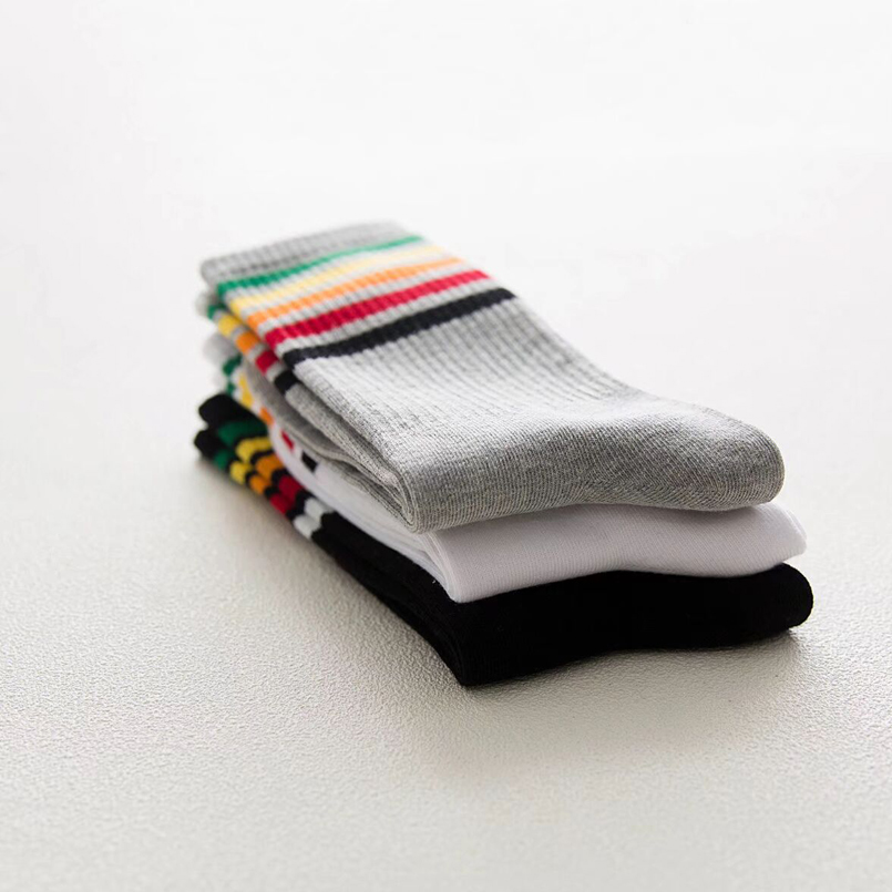 [SNINYQS] 1 Dozen Winter Socks Men Cotton Striped Mens Pattern Socks Long Business Dress Socks Crew Soft White Black Colorful