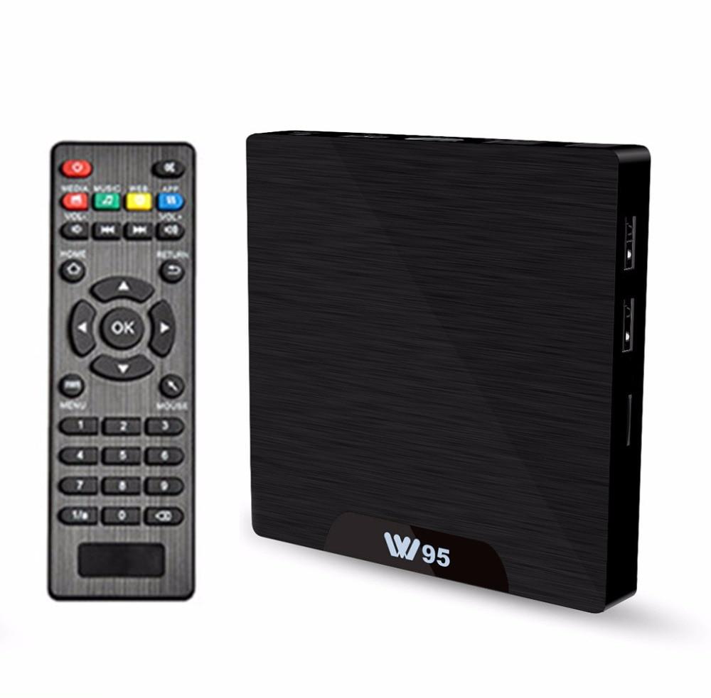W95 Android 7.1 TV Box Amlogic S905W Quad Core 1 GB/8 GB 2 GB/16 GB 2.4G WiFi H.265 4 K 30fps VP9 lecteur multimédia décodeur TV intelligent