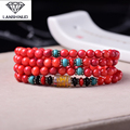 The wholesale supply of male and female counter multi Ring Bracelet Red clam shell six words 108 Pearl crystal jewelry