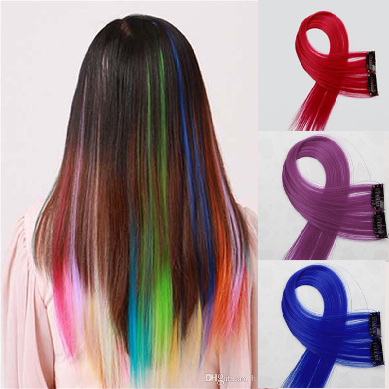 Color Hair Extensions Hair Style Clip In Straight Extensiones