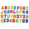 36pcs Baby Bath Toys Educational Floating Bath Letters & Numbers Stick on Bathroom Toy Baby Early Educational Toys