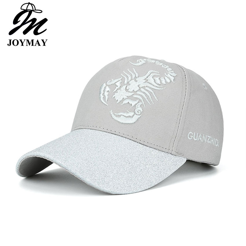 JOYMAY  New arrival high quality snapback cap demin adjustable baseball cap Scorpion embroidery hat for men women B465