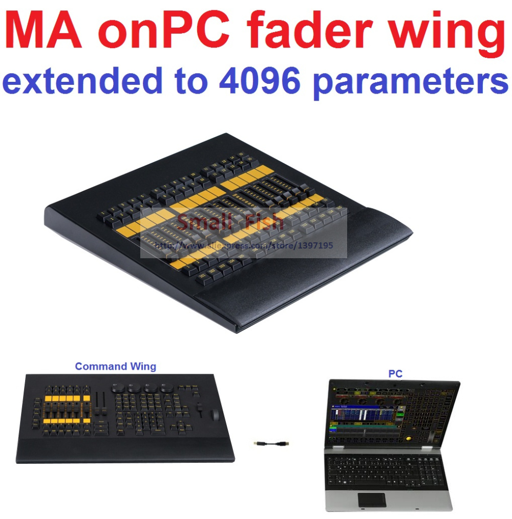 Cheap 2016 DMX Console Copy MA onPC fader wing From MA Lighting Connect to PC Lighting Console Real-time Control 2048 parameters