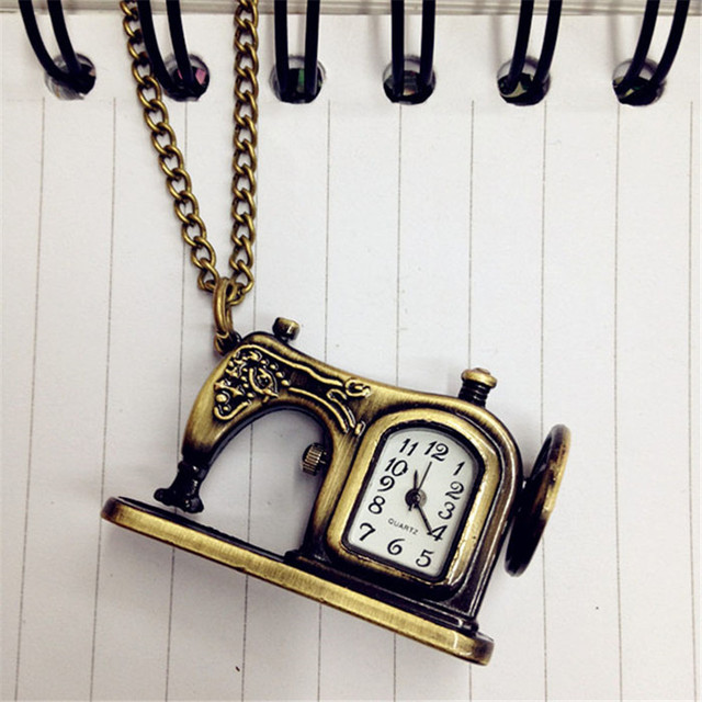 #5001Retro Alloy Antique Sewing Machines Pendant Pocket Watch Christmas Gift DROPSHIPPING New Arrival Freeshipping Hot Sales
