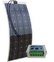ECO WORTHY 100w semi flexible solar panels 100watt portable mono solar modules with 15A Solar Charger Controller