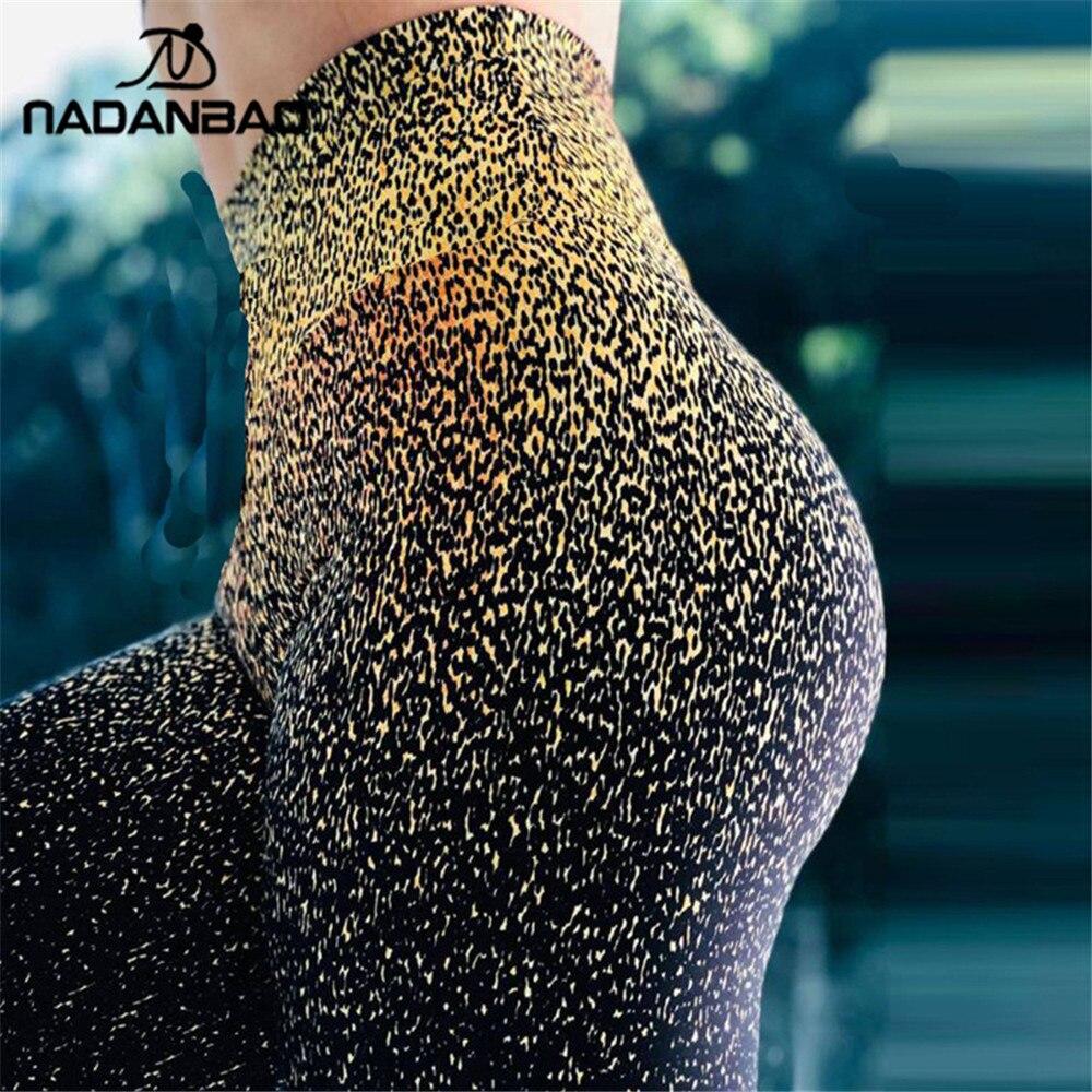 NADANBAO Push Up Leggings Women High Waist Fitness Legging Sexy Leopard Print Workout Legins Woman Plus Size