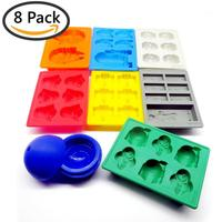 8 Pieces/set Star Wars Silicone Ice Cube Maker Trays Chocolate Molds Frozen Kitchen Accessories