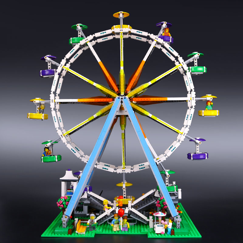 DHL 15012 Building Series the Ferris Wheel model Educational building blocks set Classic Compatble With 10196 Architecture ToyDHL 15012 Building Series the Ferris Wheel model Educational building blocks set Classic Compatble With 10196 Architecture Toy