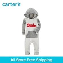 Sweet slogan Hooded Jumpsuit Cotton Kanga pocket Carter s baby clothing Boy Spring Fall 118H963