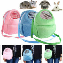 Kleine Pet Carrier Konijn Kooi Hamster Chinchilla Reizen Warme Zakken Kooien Cavia Carry Bag Ademend(China)