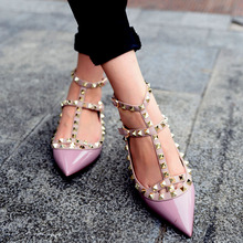 Woman Pointed Patent Leather Fashion Shoes Brand Design Stylish With Double Straps Flat Shoe Party And Daily Flat Shoes