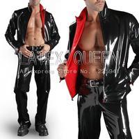 Men Two Layer Latex Coat Clothings