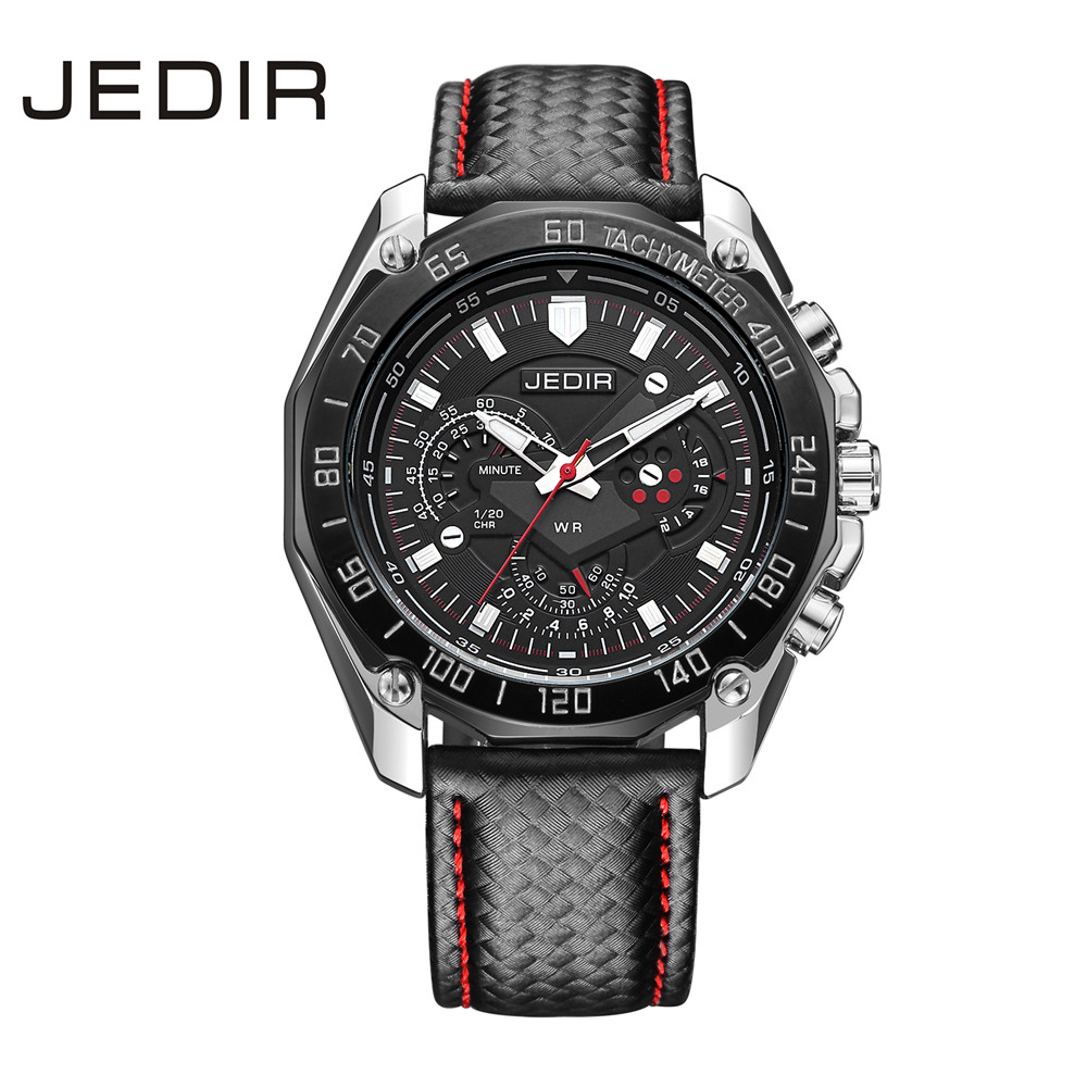 JEDIR Sports Brand Quartz Mens Watches Luxury Quartz-watch Clock Men Leather Strap Male Wristwatch Relogio Masculino N17 new chenxi clock watches men top brand luxury mens leather wristwatches men s quartz popular sports watch relogio masculino