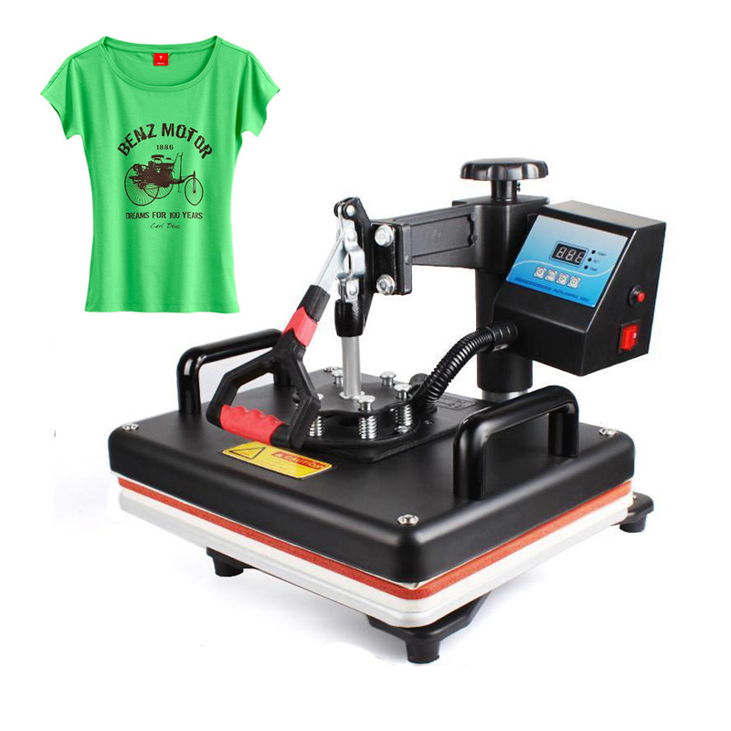 12x15 Pouces presse chauffée Machine Machine d'impression de t-shirt Numérique Swing 29x38 CM De Transfert De Chaleur Sublimation Imprimante Tissu bricolage