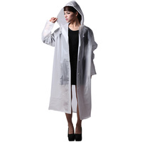 Fashion And Personality Long Design EVA Waterproof Snow Defense Rain Suit Outdoor Ultra Thin Women Raincoat